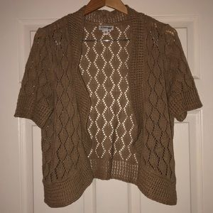 Tan knit shrug